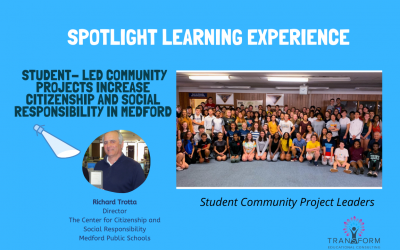 PBL Spotlight Experience: Student- Led Community Projects Increase Citizenship and Social Responsibility in Medford